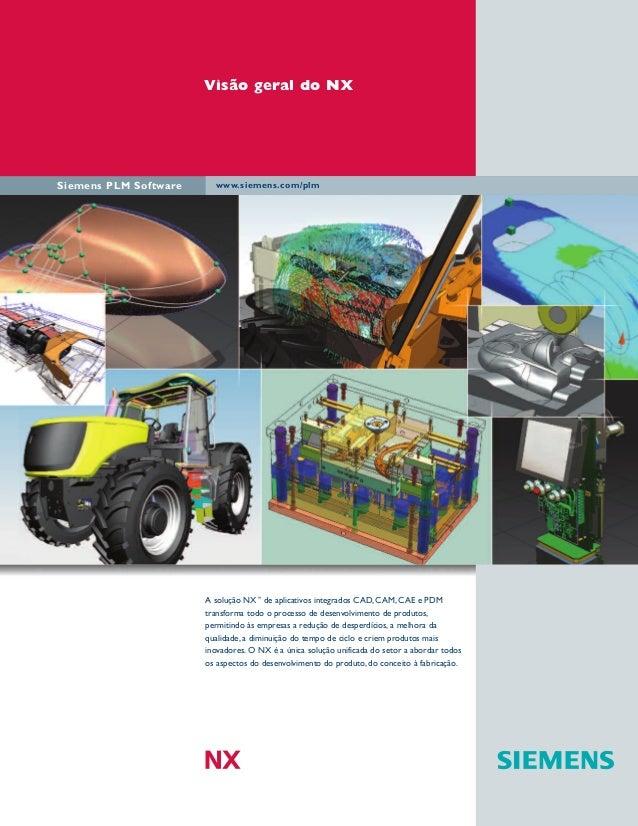 Visão geral do NX  Siemens PLM Software  www.siemens.com/plm  A solução NX™ de aplicativos integrados CAD, CAM, CAE e PDM ...