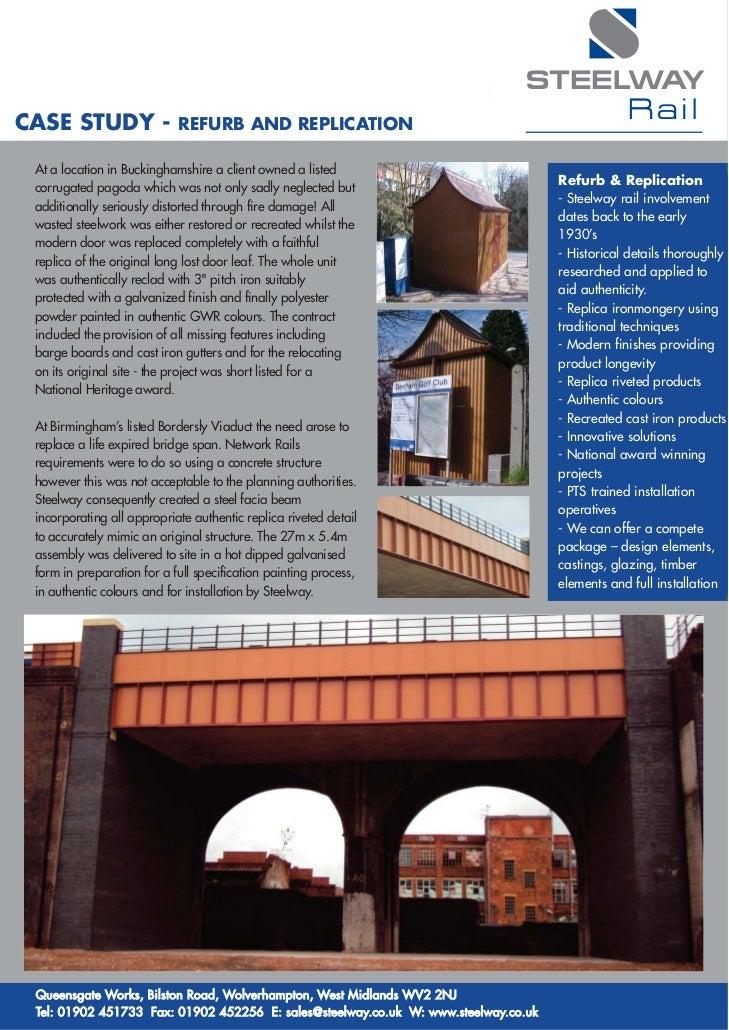 STEELWAYCASE STUDY -                REFURB AND REPLICATION                                                                ...