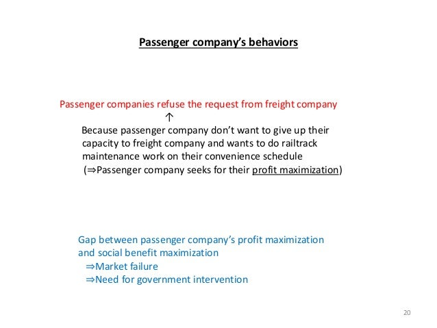 Passenger companies refuse the request from freight company ↑ Because passenger company don't want to give up their capaci...