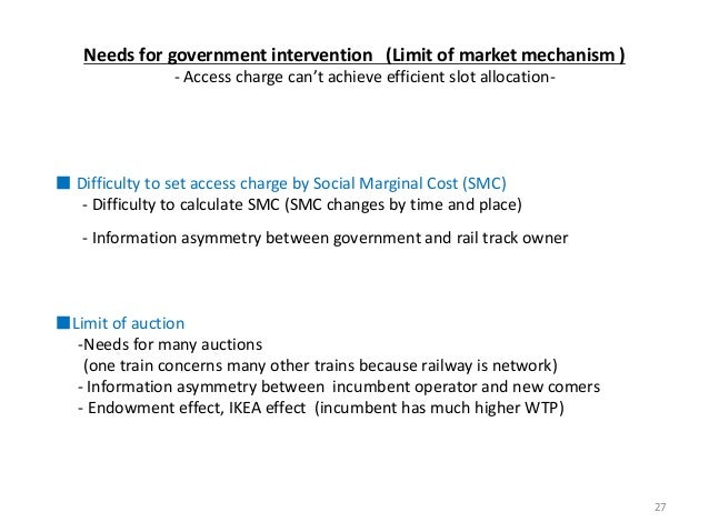 Needs for government intervention (Limit of market mechanism ) - Access charge can't achieve efficient slot allocation- ■ ...
