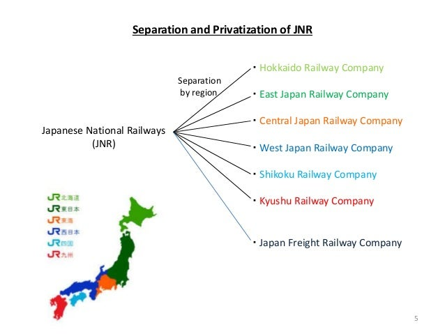 Japanese National Railways (JNR) ・ Hokkaido Railway Company ・ East Japan Railway Company ・ Central Japan Railway Company ・...