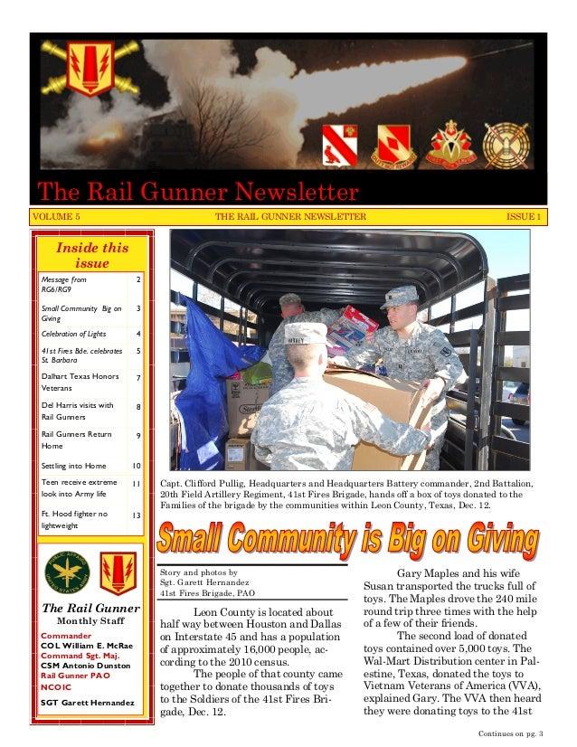 The Rail Gunner NewsletterVOLUME 5                                        THE RAIL GUNNER NEWSLETTER                      ...