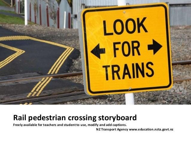 Rail pedestrian crossing storyboard