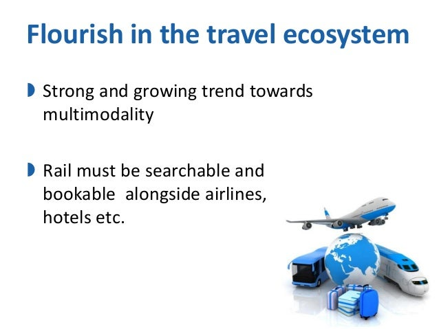 Flourish in the travel ecosystem  Strong and growing trend towards multimodality  Rail must be searchable and bookable a...