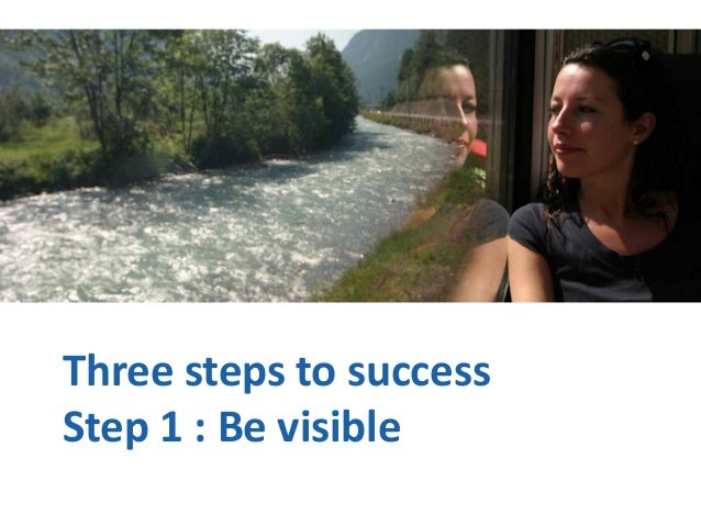 Three steps to success Step 1 : Be visible