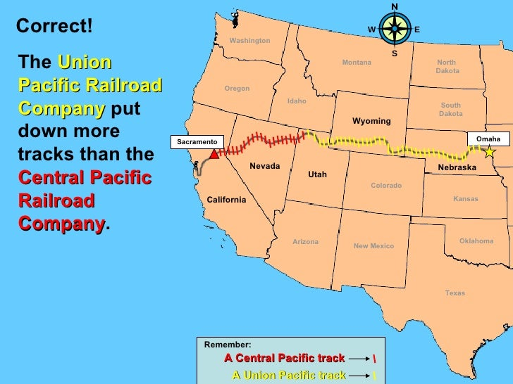 First Transcontinental Railroad Lesson - Us transcontinental railroad map