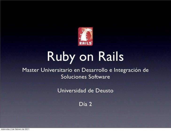 Ruby on Rails                      Master Universitario en Desarrollo e Integración de                                    ...