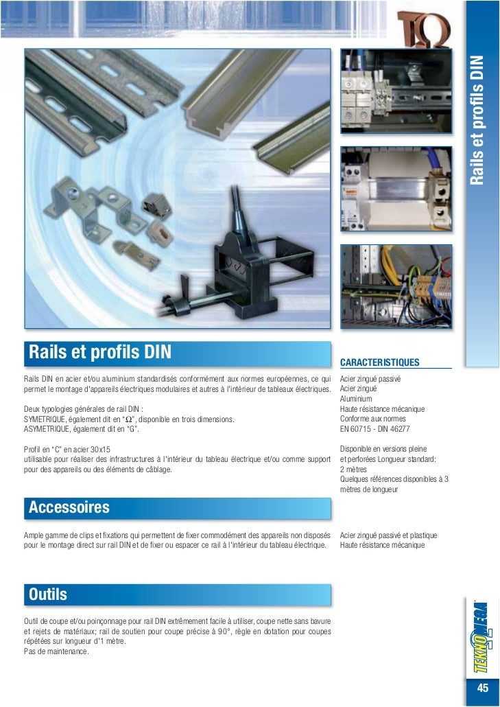 Rails et profils DIN Rails et profils DIN                                                                                 ...
