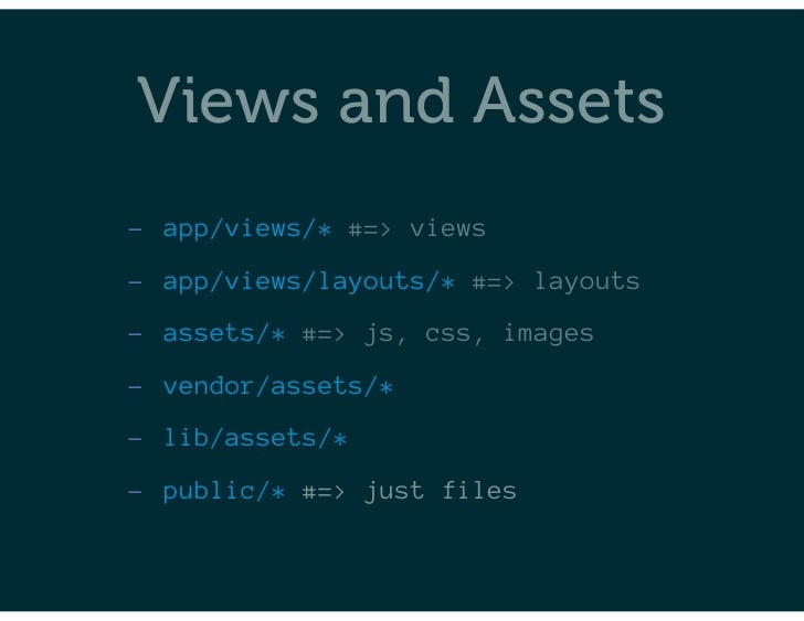 Survey of Front End Topics in Rails