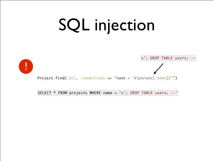 Rails security - Sql injection drop table example ...