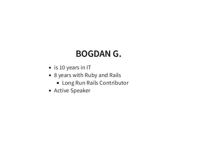 Rails App performance at the limit - Bogdan Gusiev Slide 2
