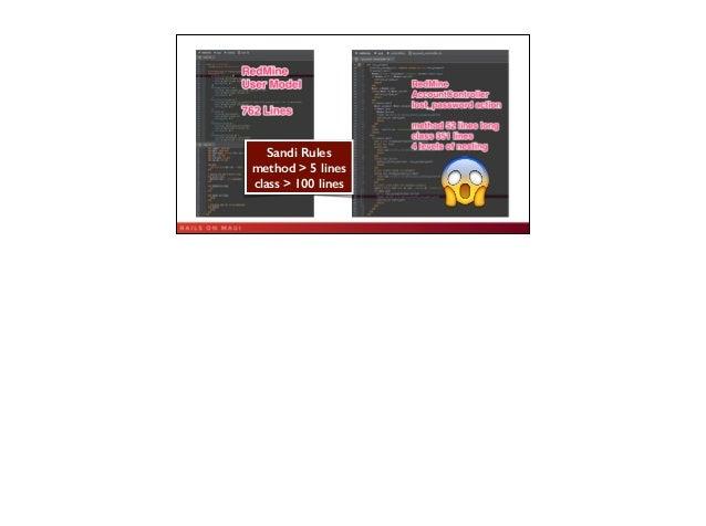 5 Sandi Rules method > 5 lines class > 100 lines 😱