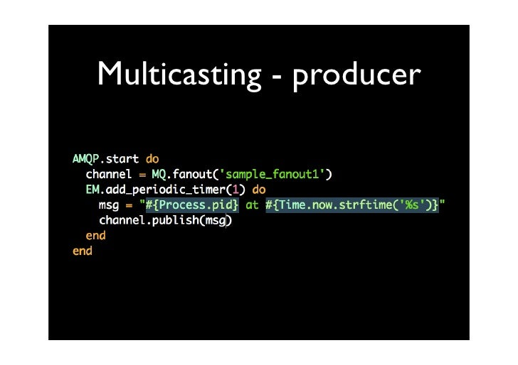 Multicasting - producer