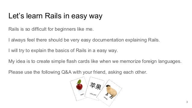 Rails for idiots #01 FlashCards for hash and CRUD Slide 3