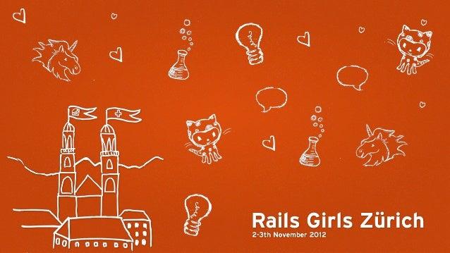 How to design a web app - Rails Girls Zurich