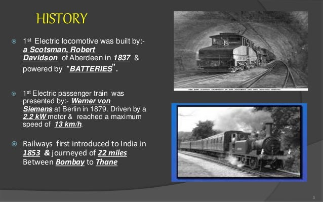 Indian railway locomotive ppt for History of the electric motor