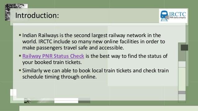 railway pnr status check online
