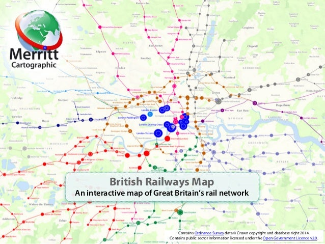 British Railways Map An interactive map of Great Britain's rail network Contains Ordnance Survey data © Crown copyright an...