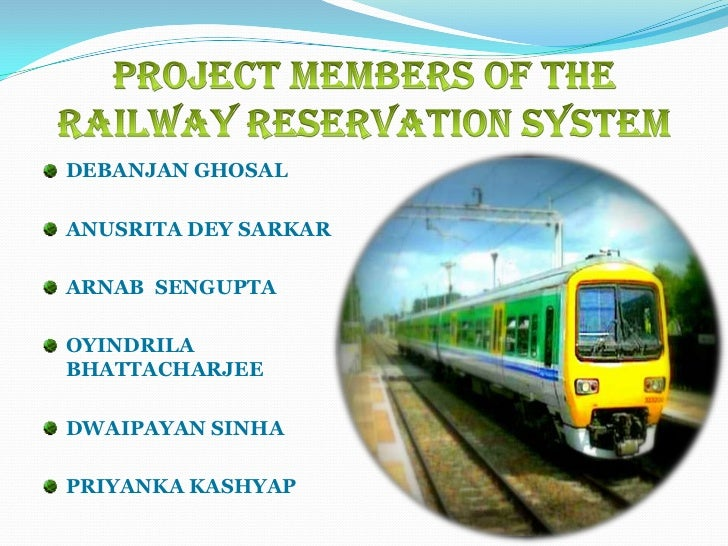 free railway reservation software
