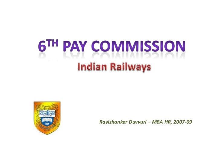 Ravishankar Duvvuri – MBA HR, 2007-09