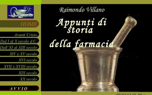 Raimondo Villano            HOME          Appunti di         Avanti Cristo                             storiaDal I al X se...