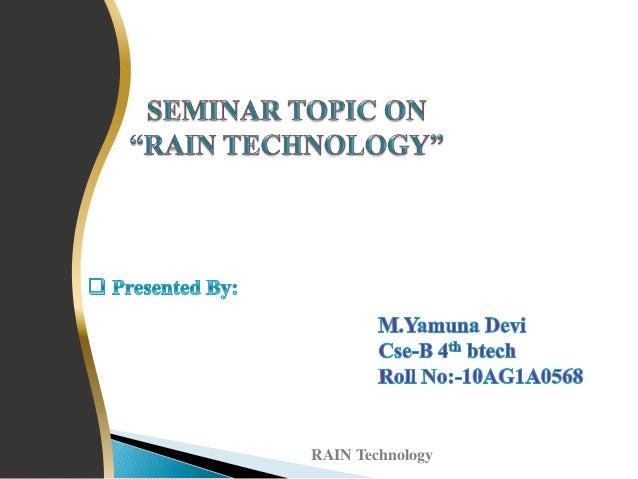 RAIN Technology