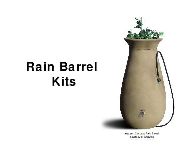 Rain Barrel Kits Algreen Cascata Rain Barrel courtesy of Amazon