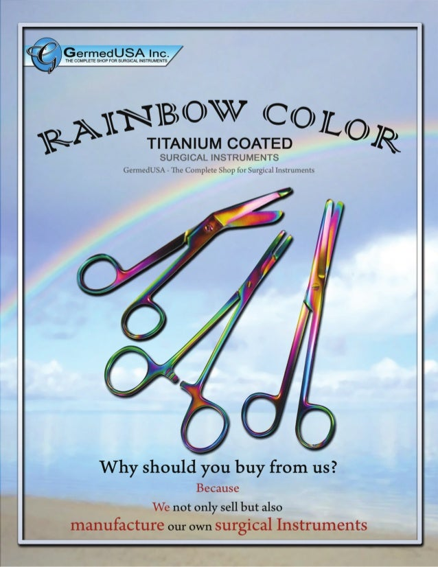 GermedUSA Rainbow Surgical instruments - Tungsten Surgical Superstrong and Durable