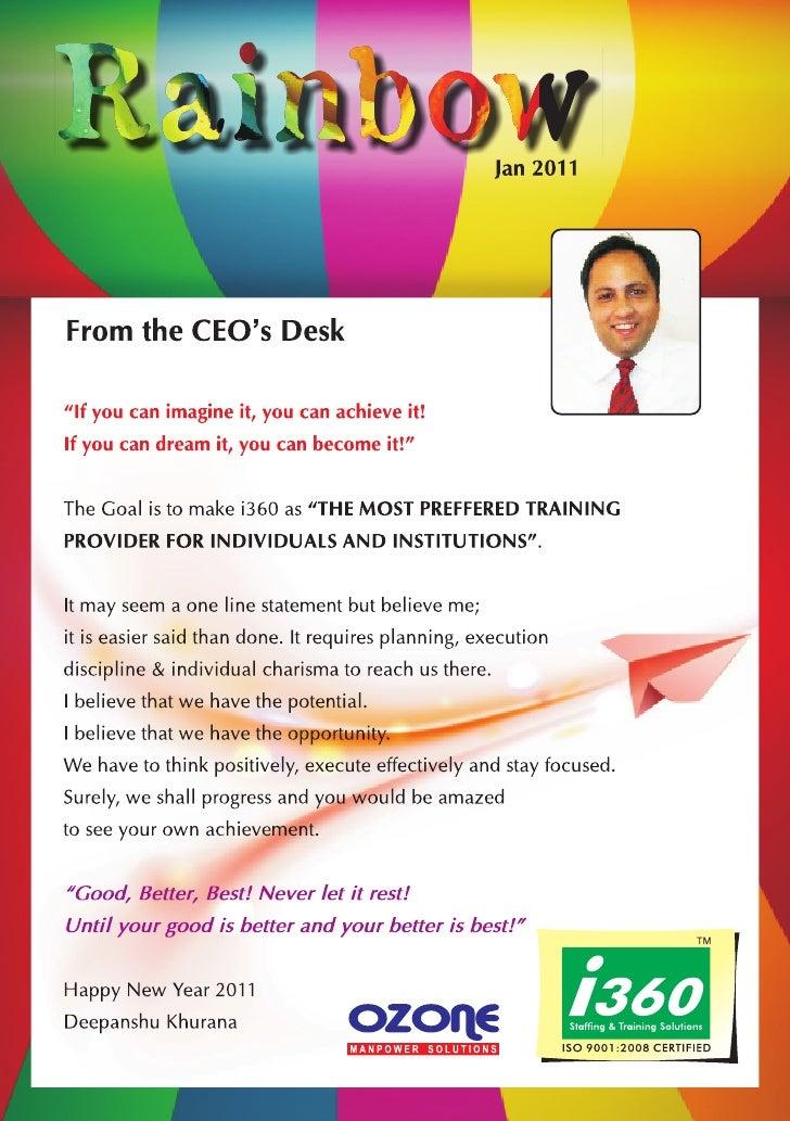I360 Franchise Newsletter - January 2011
