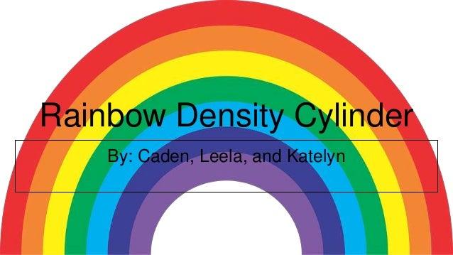 Rainbow Density Cylinder By: Caden, Leela, and Katelyn