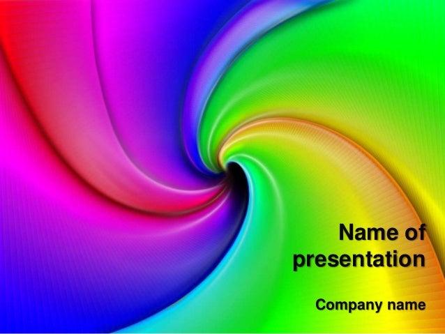 Rainbow powerpoint template name of presentation company name toneelgroepblik Gallery