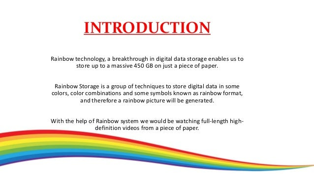 HOW IS IT POSSIBLE? Data stored in rainbow format on an ordinary paper.