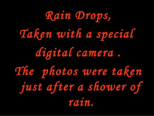 Rain drops powerpoint Slide 2