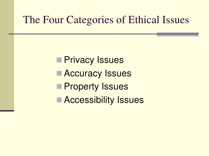 Privacy accuracy property and accessibility