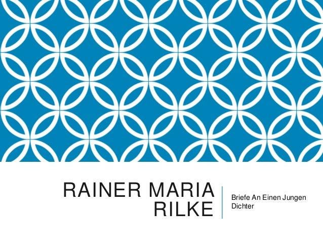 RAINER MARIA   Briefe An Einen Jungen       RILKE   Dichter