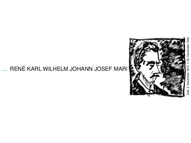 Geb. 4. Dezember 1875 † 29. Dezember 1926… RENÉ KARL WILHELM JOHANN JOSEF MARIA RILKE