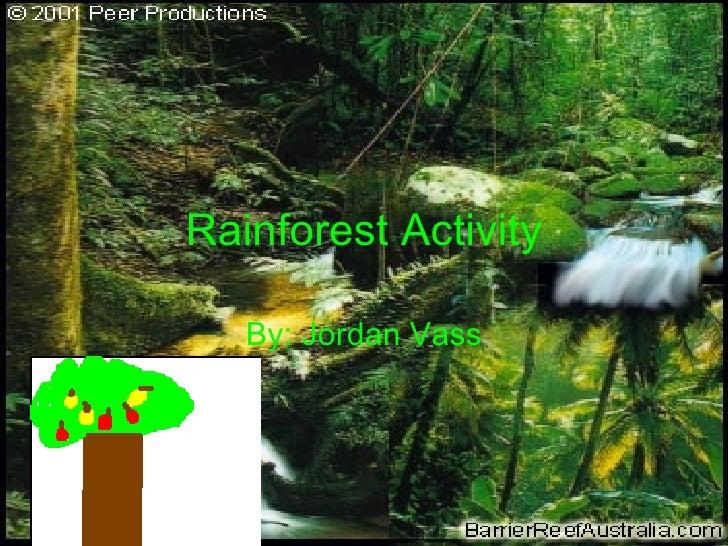 Rainforest Activity By: Jordan Vass