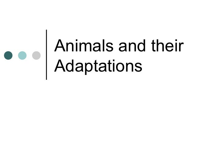 Animals and theirAdaptations