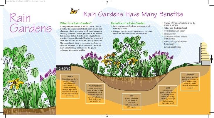 Appoquinimink River Association Rain Gardens Brochure