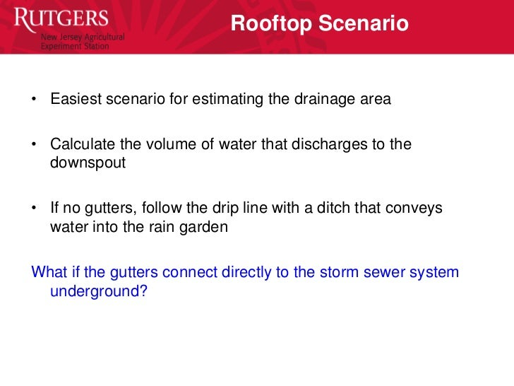Rain Garden Site Selection
