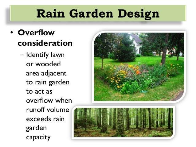 Rain Garden Design hardy perennials add a splash of color to this rain garden photo courtesy of Rain