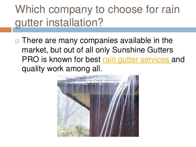 A Quick Review Of Rain Gutter Installation