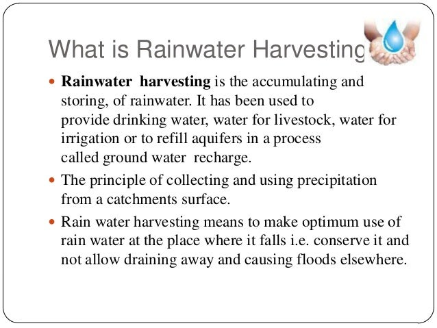 importance of rainwater harvesting pdf