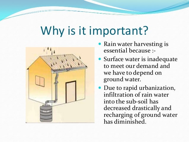 essay on advantages of rainwater harvesting Essay on rain water harvesting and its benefits october 6, 2017 santosh kumar essays rainwater harvesting is a process of saving the rainwater and using it for.