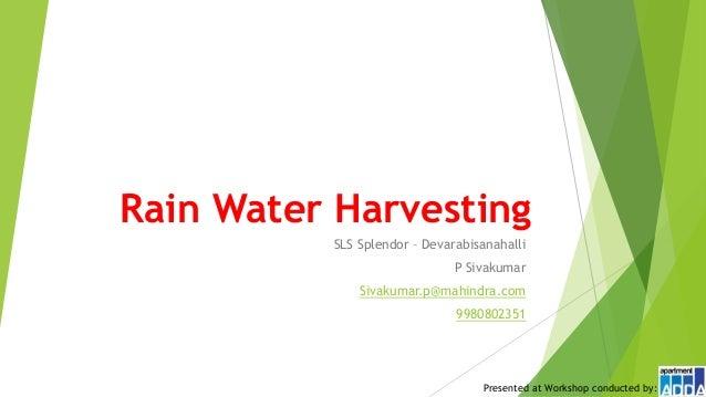 Better Apartment Management Rain Water Harvesting In Sls