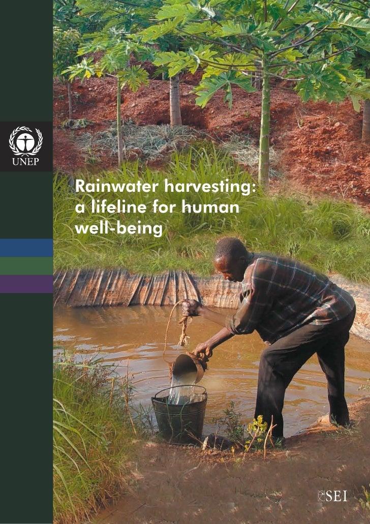 Rainwater harvesting:a lifeline for humanwell-being