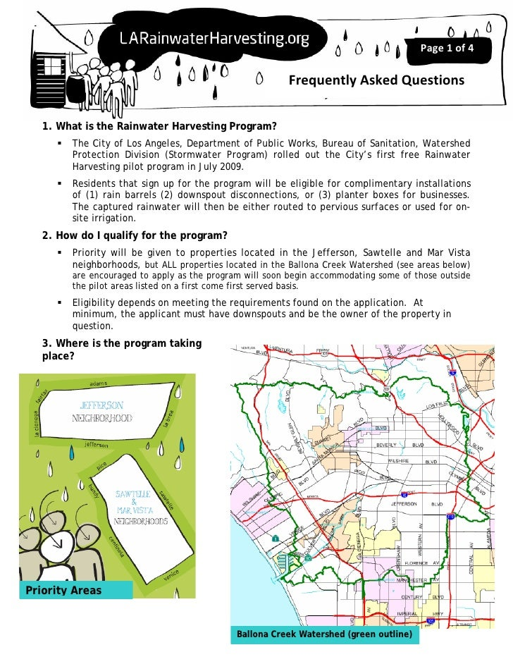 Page1of4                                                        FrequentlyAskedQuestions   1. What is the Rainwater H...