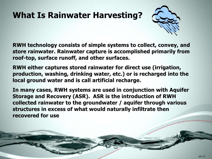 Rainwater Harvesting For Decision Makers