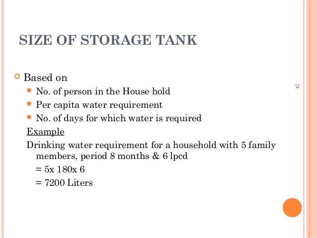 23; 15. SIZE OF STORAGE TANK ...  sc 1 st  SlideShare & Rain water harvesting u0026 greywater management