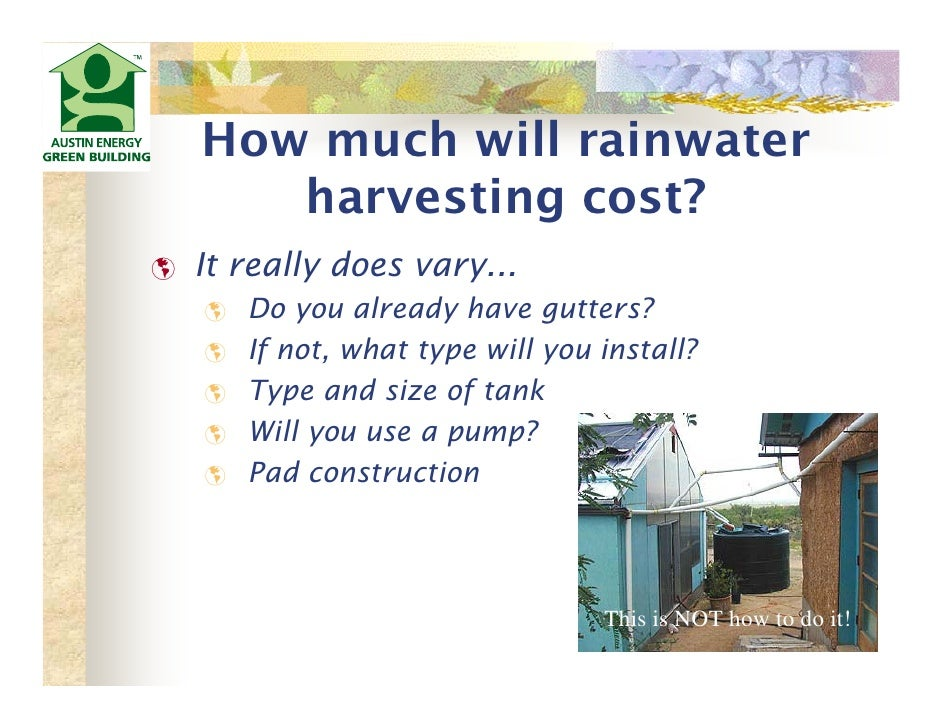 Texas Urban Rainwater Harvesting For Landscape Irrigation